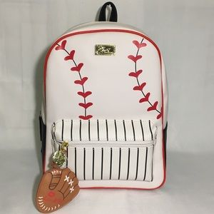 NWT Betsey Johnson Baseball Ballgame Backpack ⚾️